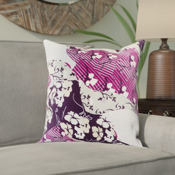 Alois Floral 100% Silk Throw Pillow Cover by Bloomsbury Market